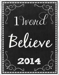 OneWord2014Believe